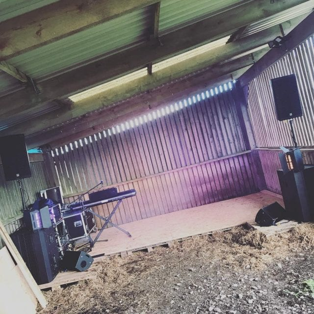 Nearly ready for Gig in a Barn using one ofhellip