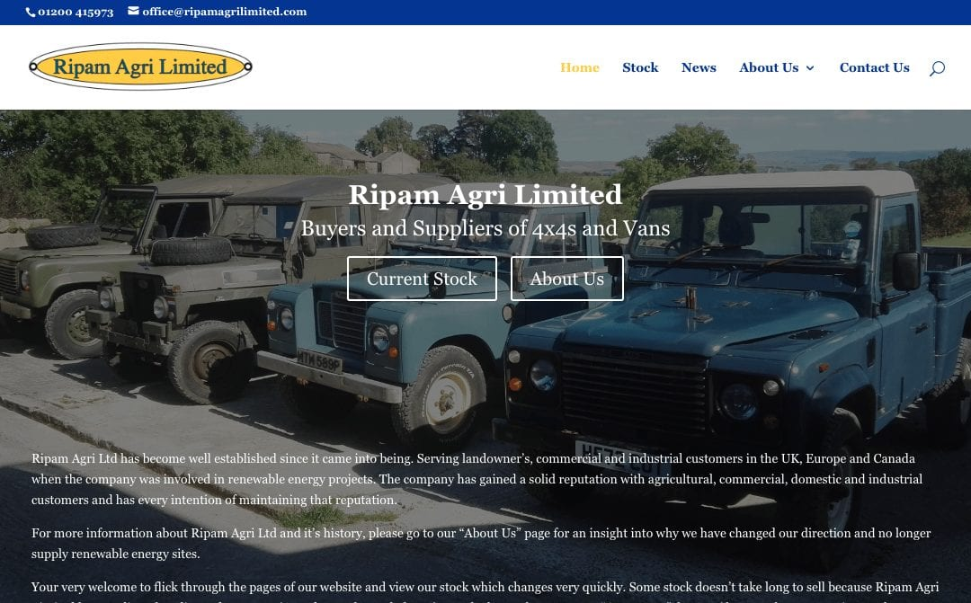 Ripam Agri Limited – Website